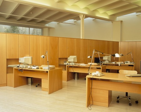 organized unit: View of a polished office