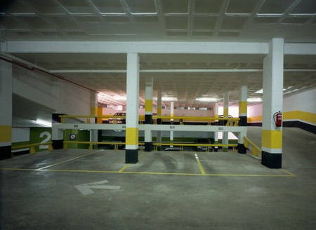 View of a spacious parking Stock Photo - 7215394