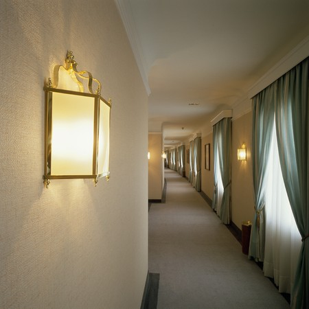 mediterranian home: View of a hallway in a hotel