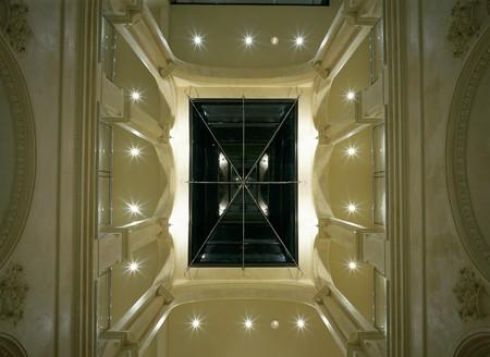 View of an illuminated skylight Stock Photo - 7215403