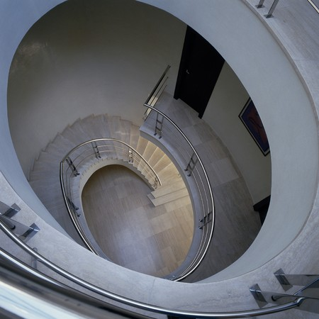 mediterranian homes: View of a winding staircases
