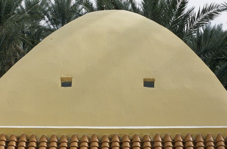 mediterranian style: View of a beige colored dome