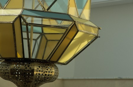 mediterranian style: Close-up of an ornate lantern