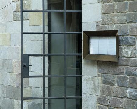 View of a door between stonewalls Stock Photo - 7215440