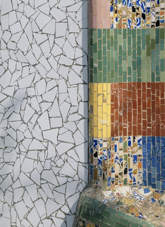 spanish tile: View of a tiled wall LANG_EVOIMAGES