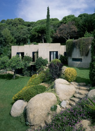 mediterranean home: View of a house from a lawn
