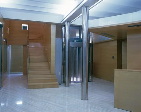 marble flooring: Visualizzazione di un elegante ufficio