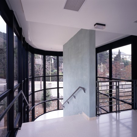 fitted unit: A house with glass panels