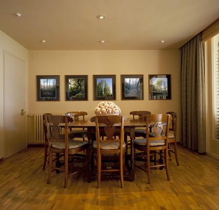 spanish homes: Visualizzazione di una sala da pranzo estetica