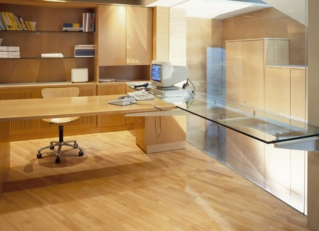 mediterranean interior: View of an elegant office