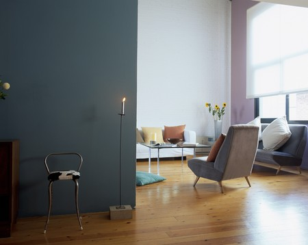 View of a chair near a candle Stock Photo - 7224107