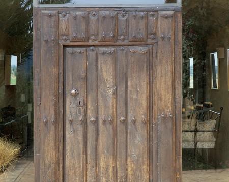 Partial view of a wooden door Stock Photo - 7224113