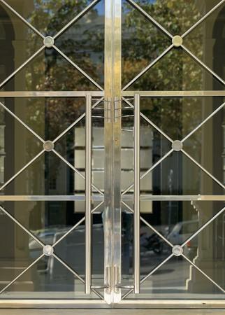 View of a windows metallic grill Stock Photo - 7224126