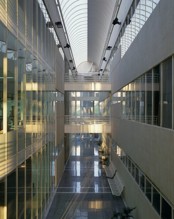 atrium: View of an atrium in a building