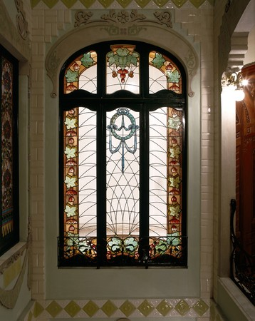 View of a stained glass window Stock Photo - 7224203