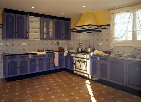 mediterranean interior: View of an eclectic kitchen
