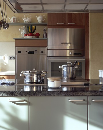 Partial view of a set kitchen Stock Photo - 7224244