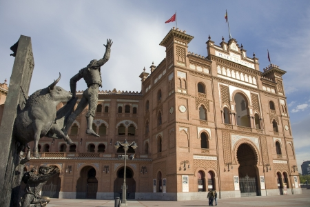 Statue in front of a bullring, Las Ventas Bullring, Madrid, Spain
