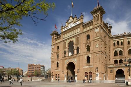 las ventas: Facade of a bullring, Las Ventas Bullring, Madrid, Spain Stock Photo