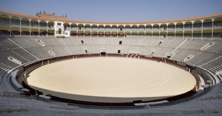 Arena of a bullring, Las Ventas Bullring, Madrid, Spain Stock Photo - 7353903