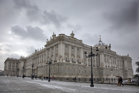 Palace in a city, Palacio Real De Madrid, Madrid, Spain