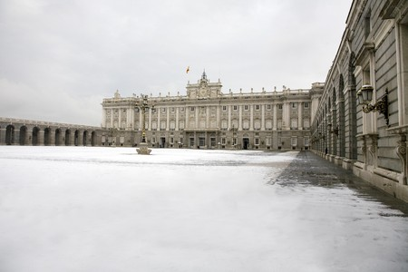 singular architecture: Palace in a city, Palacio Real De Madrid, Madrid, Spain