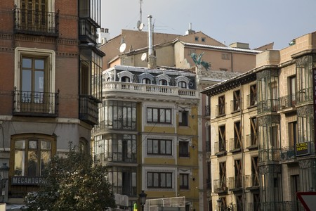 Buildings in a city, Old Quarter, Madrid, Spain Stock Photo - 7353811