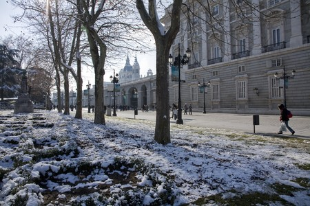 singular architecture: Buildings in a city, Royal Palace, Palacio Real, Madrid, Spain