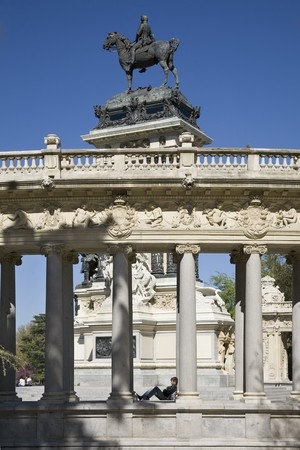 singular architecture: Monument in a park, Alfonso XII Monument, Parque Del Retiro, Monumento A Alfonso XII, Retiro Park,  Madrid, Spain