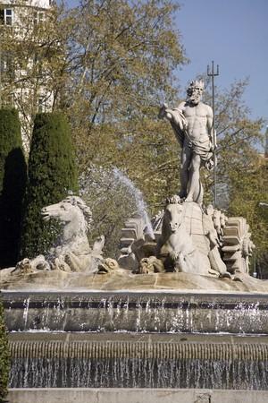 male likeness: Fuente de Neptuno, la Fuente De Neptuno, paseo del Prado, Madrid, Espa�a