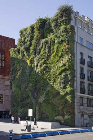 capital building: Caixa Forum, Vertical Garden, Madrid, Spain