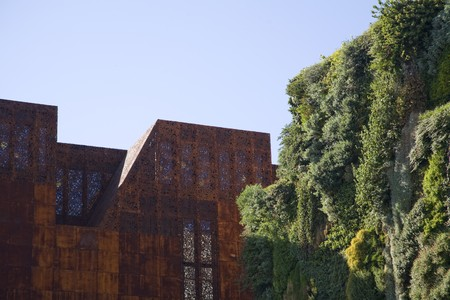 singular architecture: Buildings in a city, Madrid, Spain