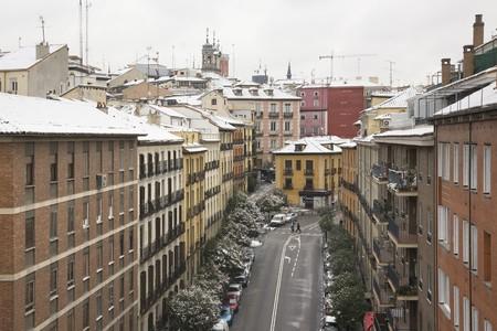 old quarter: Buildings in a city, Old Quarter, Madrid, Spain