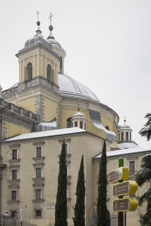 singular architecture: Low angle view of a church, Catedral De La Almudena, Madrid, Spain