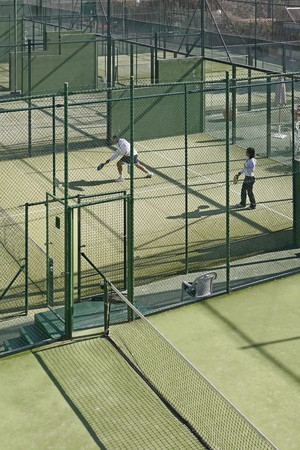 racquetball: Tribunales de paddle tenis de c�sped artificial.