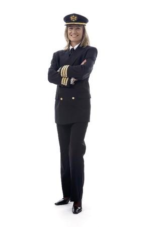pilotos aviadores: Mujer piloto  Foto de archivo
