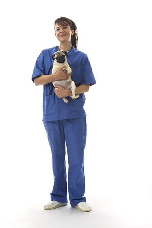 Veterinarian with cat photo