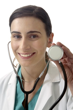 Doctorwith stethoscope. Stock Photo - 7475687