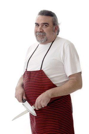 Butcher with red apron Stock Photo - 7475682