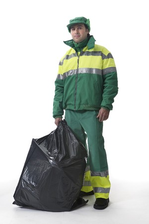 Dustman, Refuse Collector Stock Photo