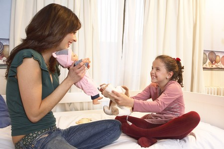 Mother playing with her daugther. Stock Photo - 7475846