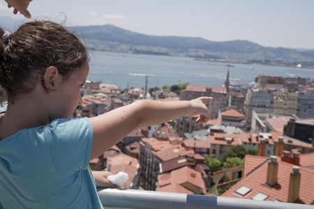 vistas: Panoramic views of Santander from the top of the funicular
