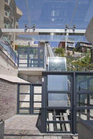 santander: Funicular one from below, Santander, Spain
