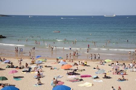 santander: Beaches of Santander, Santader, Spain Editorial