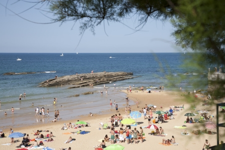 places of interest: The Sardinero one summer day, Santander, Spain