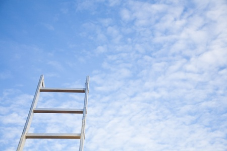 directed: Ladder directed to the blue sky.