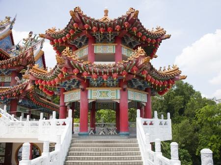 chinese temple: Thean Hou Temple, Kuala Lumpur, Malaysia Stock Photo