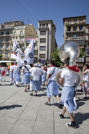 San Fermin festivities. Band of Music, Pamplona, Navarra, Spain Stock Photo - 14667787