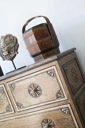 Close up of chest of drawers. Stock Photo - 9327289