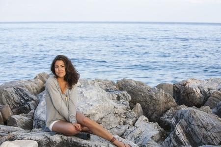 Portrait of young girl at Puerto Banus, Marbella, Malaga, Spain. Stock Photo - 9460674
